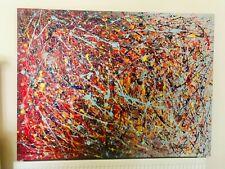 Obras De Arte Originales Pintura Moderna Estilo Jackson Pollock
