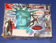 X-Men Movie Lady Liberty Playset Complete + Box Statue 2000 Toy Biz Wolverine