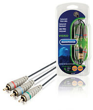 2M,Component Video Cable, RGB YUV Red Blue Green 3 RCA Phono To 3 RCA Phono Lead