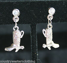 Country Western Cowgirl Earrings Cowboy Boots Hats Horse Handcuffs