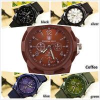 Men Nylon Band Military Gemius Army Quartz Movement Watch Casual Wristwatches