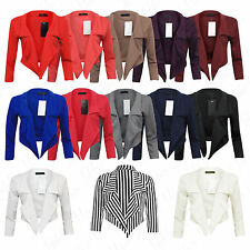 Polyester None Cropped Formal Coats & Jackets for Women