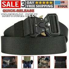 Military Tactical Belt For Men Quick Release Buckle Heavy Duty Work Waistband US