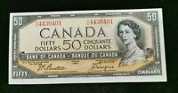 uncirculated 1954 Canadian $50.00 Bill  Canada Ship