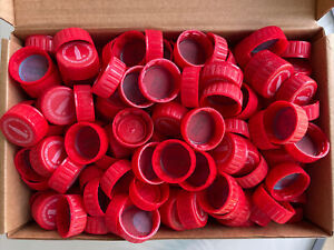 700 (1.7 Lbs) Red  Plastic Pop Soda Bottle Caps Lids Crafts