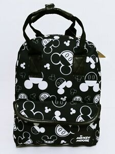 """Disney Mickey Mouse 11"""" Backpack Purse All Over Print Carry All Bag 2 IN ONE New"""