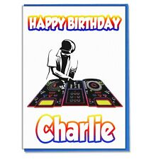 Personalised DJ DNB Mixer Birthday Card Boys Mens Son Husband Boyfriend Teenager
