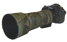 Sigma 170 500mm neoprene lens protection camouflage coat cover Woodland/black