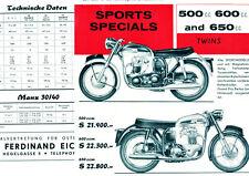 Norton - Motorrad-Programm - Prospekt  - 1962 - Deutsch -   nl-Versandhandel