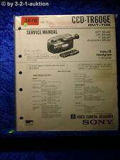 Sony Service Manual CCD TR606E (#3676)