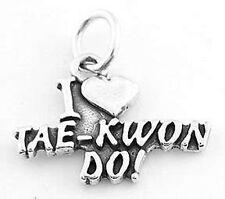 925 SILVER I LOVE TAE KWON DO CHARM/PENDANT