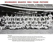 Milwaukee Braves 1954 - 8x10 B&W Team Photo