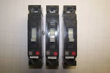 3) Ge General Electric 20 Amp 1 Pole 277 Vac Circuit Breaker Thed113020