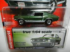1:64 AUTO WORLD Premium B = Green 1967 Ford Mustang GT *NIP*