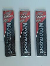 "NEW ""3 Piece Lot"" PILOT AUTOMOTIVE 6"" MOTORSPORT STICK ON CHROME ABS EMBLEM"