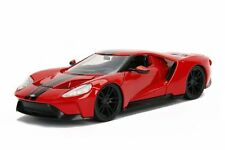 2017 Ford GT Red With Black Stripes 1-24 Diecast Model Car by Jada