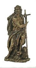 "St. John The Baptist Statue, Cold-Cast Bronze, 9.5"""