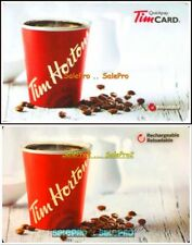 2x TIM HORTON QUICK PLAY TIM COFFEE FR/ENG RELOADABLE COLLECTIBLE GIFT CARD LOT