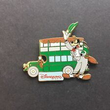 DLP Paris Attractions - Double Decker Bus - Goofy Disney Pin 12987