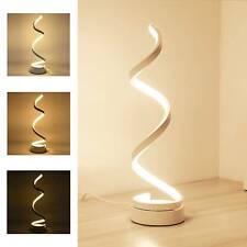 LED Table Lamp Spiral Desk Lamp Warm White Modern Reading Light Bedside Room UK