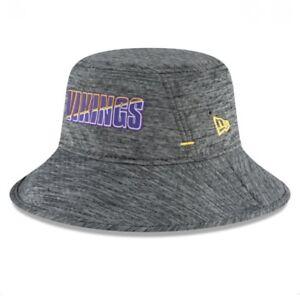 Minnesota Vikings NFL New Era Men's Gray '20 Training Camp Bucket Hat Cap OSFM