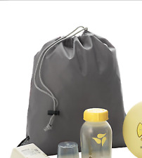 10 Medela Swing carrying gray travel bag pouch drawstring gray for breast pump