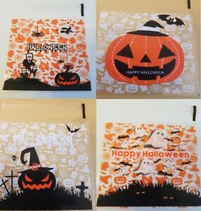 Halloween Sweet Candy Cookie Biscuit Treat Seal Bags Pumpkin Ghost Witch Bat