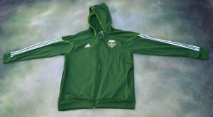 Adidas MLS Soccer Portland Timbers Hoodie Jacket Size XL.