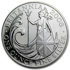 2008 Great Britain 1 oz Silver Britannia BU - SKU #31684