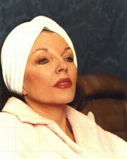 "JOAN COLLINS - 10"" x 8"" Photograph Sitting In Make-Up Chair 1991 #1217"