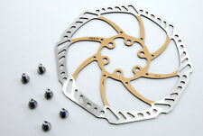 Ashima Aegis 160mm Mountain Bike Disc Brake Rotor GOLD 91 grams light