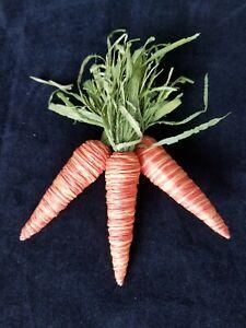 🐰 🥕 Primitive Easter Carrots, Bunny Carrots, Easter Decor, Bowl Filler, 6 Inch