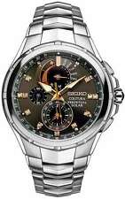 Seiko Coutura Solar Alarm Chronograph Perpetual Calendar SSC561 Diamonds Watch