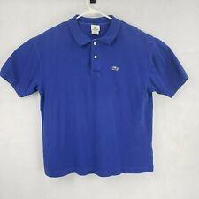 Lacoste Mens Size 7 XL Polo Shirt Blue