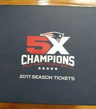 New England Patriots 2017 Season Ticket Holder Super Bowl Box with pins & Flag