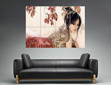 Geisha Tatoo Tatto Asian  Wall Art Poster Grand format A0 Large Print