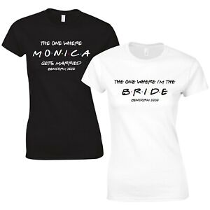 Friends Style Hen Party T-Shirts - Custom Personalised Wedding Tops Bride Hen Do