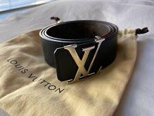 Authentic Louis Vuitton Initiales 40MM Reversible Belt Black 85/34 Receipt
