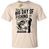 Big Day Of Fishing T-Shirt Mens fisherman gift angler tee