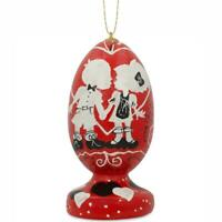Our First Valentine's Day Kiss Egg Christmas Ornament