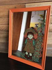 """Vintage, miroir cadre """"Sarah Kay"""". Boutique PlumeDubois"""
