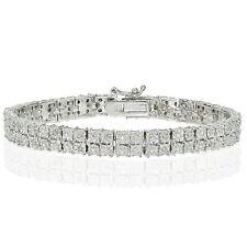 0.25ct TDW Natural Diamond Miracle Set 2-Row Tennis Bracelet in Brass
