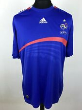France 2007/2008 ADIDAS Home UEFA EURO 2008 Football Shirt Men's Size L Jersey