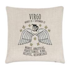 Virgo Horoscope Linen Cushion Cover Pillow - Horoscope Star Sign Zodiac Birthday