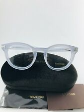 New Authentic Tom Ford Eyeglasses TF 5489 020 Clear Grey 50-22-145 NWT
