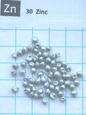 Zinc metal pellets 99.98% 10g - pure element 30 sample
