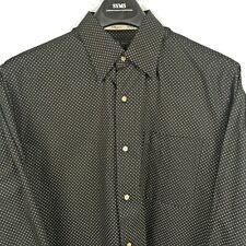Bobby Jones Collection Size L 16.5 Black Polka Dot Men's Shirt NWOT A02139