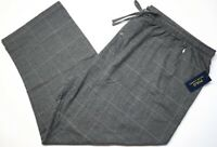 NEW $44 Polo Ralph Lauren Gray Plaid Mens Lounge Flannel Pajama Pants Grey NWT