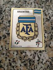 SCUDETTO ARGENTINA N. 114 album CALCIATORI ITALIA 90 PANINI NUOVA CON VELINA