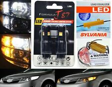 LED Switchback Light 3030 White Amber 3157 Two Bulbs Resistor F Turn Signal DRL